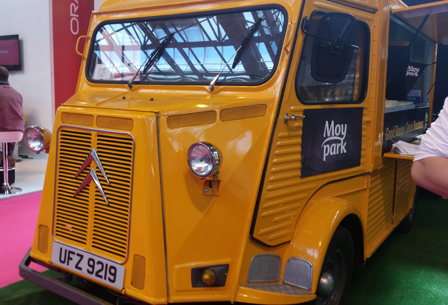 Moy Park Citroen HY Van at the National Convenience Show, front view
