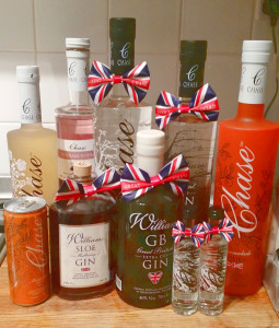 Chase Vodka selection of drinks