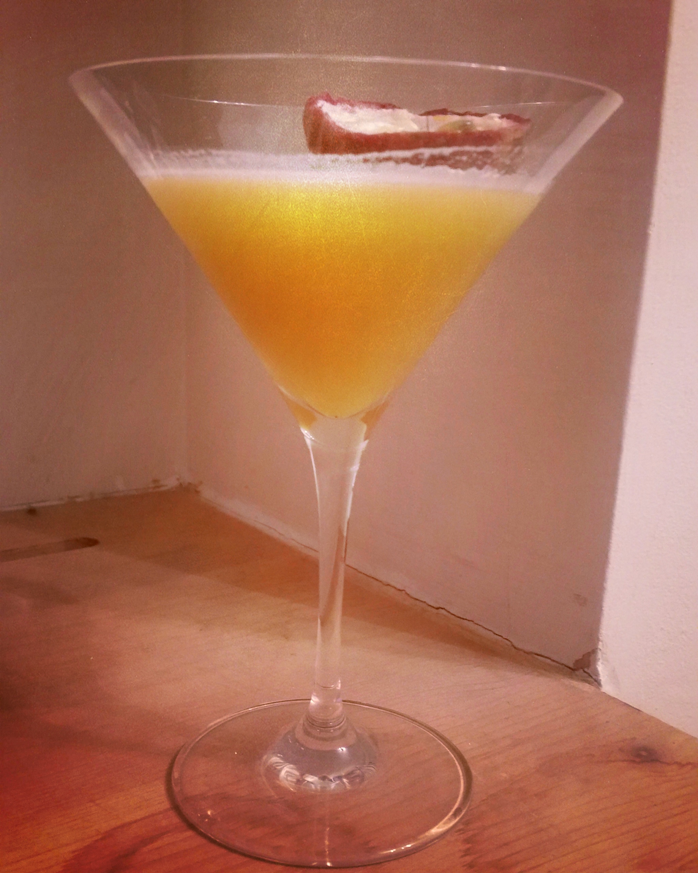 bajan passion cocktail with passionfruit and rum