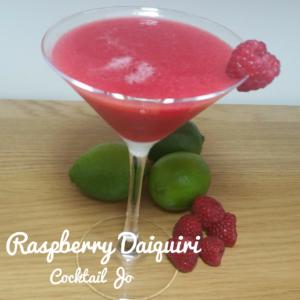 Raspberry Daiquiri served in a Martini Glass